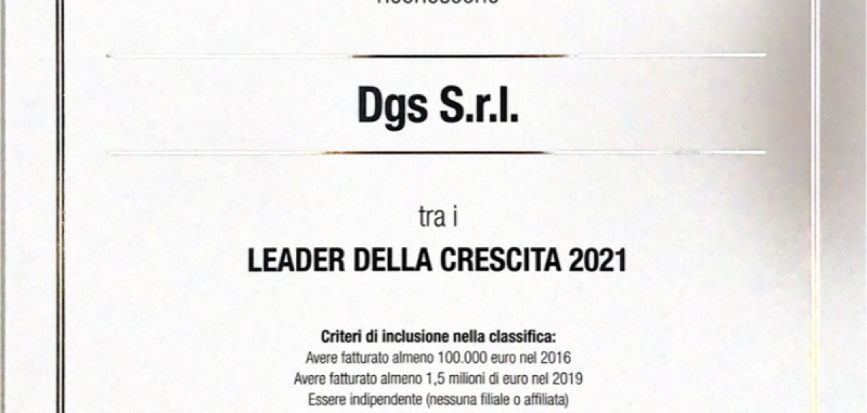 DGS SRL – LEADER OF GROWTH 2021
