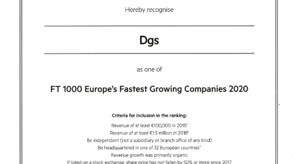 ANOTHER AWARD FOR DGS!