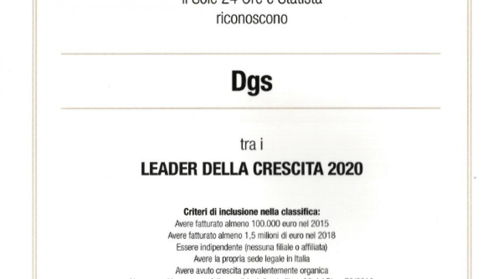 DGS SRL tra I LEADER DELLA CRESCITA 2020